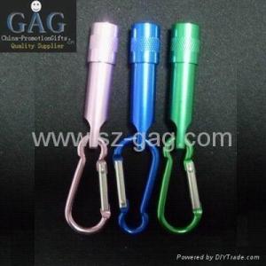 China Carabiner flashlight (GAG-204) on sale
