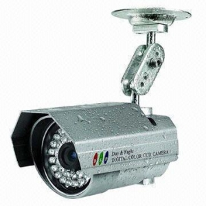 China 1/3-inch Sony CCD Color Camera with PAL/NTSC TV System and IR Distance of 25m on sale