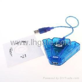 China Dual PS/PS2 Controller to USB 2.0 PC Joystick Adapter on sale