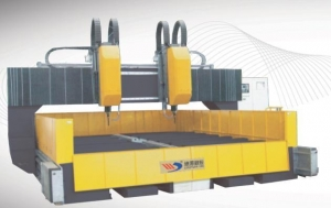 China Movable Gantry Type Double spindle CNC High-Speed Drilling Machine on sale