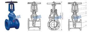 China Rising stem resilient gate valve(RRHX) on sale