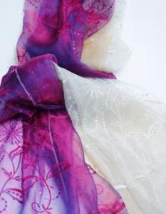 China spangle embroidery curtain fabrics FDBL-6001 on sale