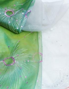 China spangle embroidery curtain fabrics FDBL-6009 on sale