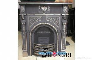 China cast iron fireplace on sale