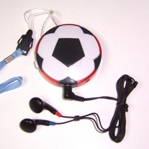China Football Shape FM Radio with Light on sale