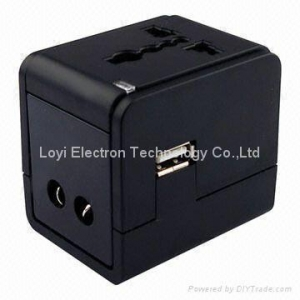 China Universal Travel Adaptor with USB on sale