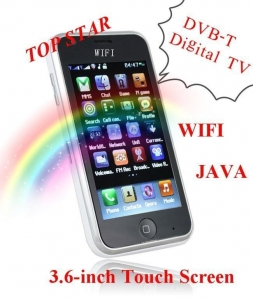 China L007 DVB-T Digital TV mobile phone For European countries WIFI JAVA cellphone on sale