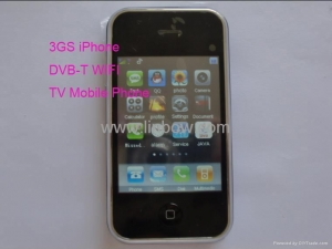 China iphone 3GS V706D DVB-T TV Mobile phone Quadband Dual Sim Dual Standby With Wifi on sale