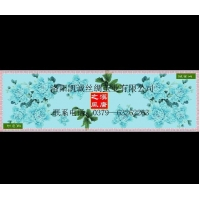 100% pure natural silk scarf blue peony