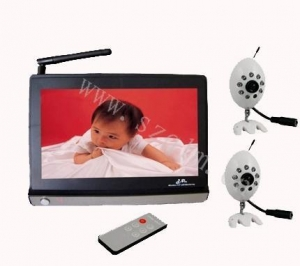 China wireless baby monitor with 2 cameras on sale