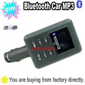 China Bluetooth Car Kit Hands Free Phone FM Transmitter MP3 on sale