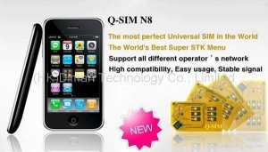 China Mini Hiphone N8 TV phone, dual SIM dual standby, quad band, can work in worldwid on sale