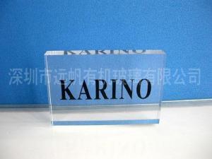 China Acrylic logo block XK-008 on sale