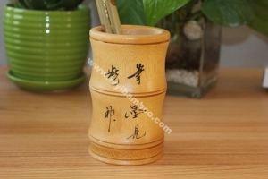 China Bamboo pencil holder on sale