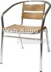 China Aluminium Wood Chair WA-3005-5(25X2.0,OAK)-.. on sale