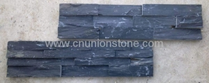China Black Slate Wall Tiles, Ledge Stone, Stacked Slate on sale