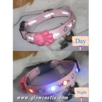 China Glow Rhinestone Dog Collar(GCP-0008) on sale