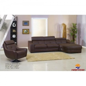 China Leather Sectional Sofa(#5181) on sale