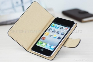 China Flap Leather Case for iPod Touch 4 PL011 on sale