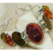 China 925 silver jewellery with stone,vintage style, gemstone 925 sterling silver stone bracelet on sale
