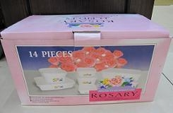 China 14 pc Plastic Bowl Rosary on sale