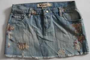 China WOMEN'S WOVEN DENIM MINI SKIRT on sale