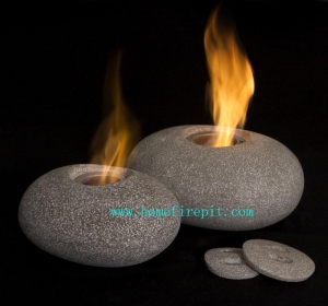 China Pebble Gel Fireplace on sale