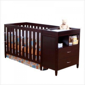 China BSF Baby Austin Convertible Crib N Changer, Espresso on sale