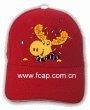 China children flashing caps and cartoon logo fiber optic caps on sale