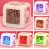 China Hello Kitty clock/ Colorful LED Lamp Digital Alarm Clock for sale