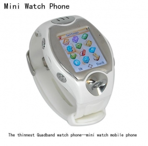 China Watch mobile phone The thinnest Quadband watch phone--mini watch mobile phone on sale