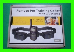 China REMOTE 100LV SHOCK+VIB ELECTRIC 2 DOGS TRAINING COLLAR on sale