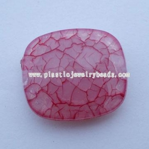 China red oblong jelly crack jewelry beads--BF018 on sale