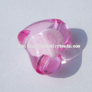 China colored pink heart beads wholesaler--ABB016 on sale
