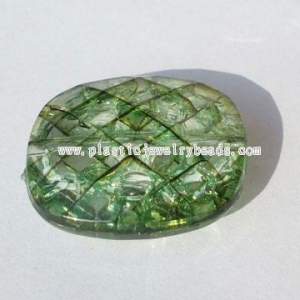 China wholesale rectangle crackle plastic acrylic beads--CAB054 on sale