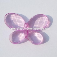 China acrylic crystal butterfly beads--AC132-2 on sale