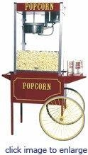China Theater Pop 12 oz. Popcorn Machine w/ Cart on sale
