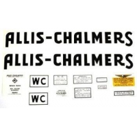Allis Chalmers WC (1941-48)Black Decal