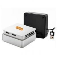 Retractable USB Card Reader with 3-Port USB HUB (BRC-96)