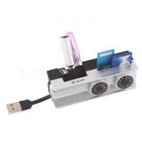 Rotatable USB Card Reader with 3-Port USB HUB (BRC-53)