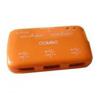 USB Card Reader with 3-Port USB HUB (BRC-78)