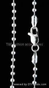 China Silver bead chain necklace TF-03 on sale