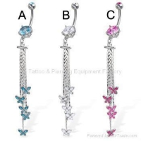 belly button ring/body piercing jewelry/dangling