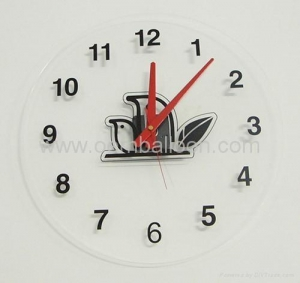 China Acrylic wall clock without frame on sale