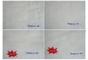 China PVC Facing White Pattern Gypsum Ceiling on sale