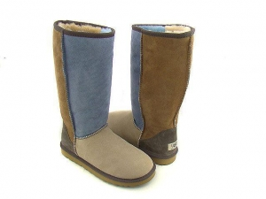 China Blue patchwork Genuine Australia classic Tall Ugg Boots on sale