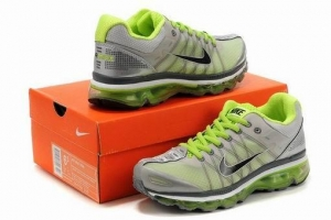 China Nike Air Max 2009 Women Running Shoes-Green/Black on sale