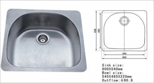 China Stainless Steel Sink Stainless Steel Sink WT-3002 on sale