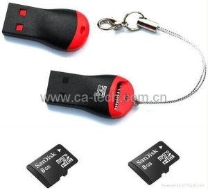 China USB2.0 Card ReaderTF Card Reader.Micro SD Card Reader on sale