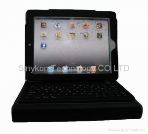China Bluetooth USB keyboard leather case for ipad 2 generation on sale